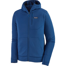Patagonia R1 Capuchon Jas met Doorlopende Rits Heren, superior blue